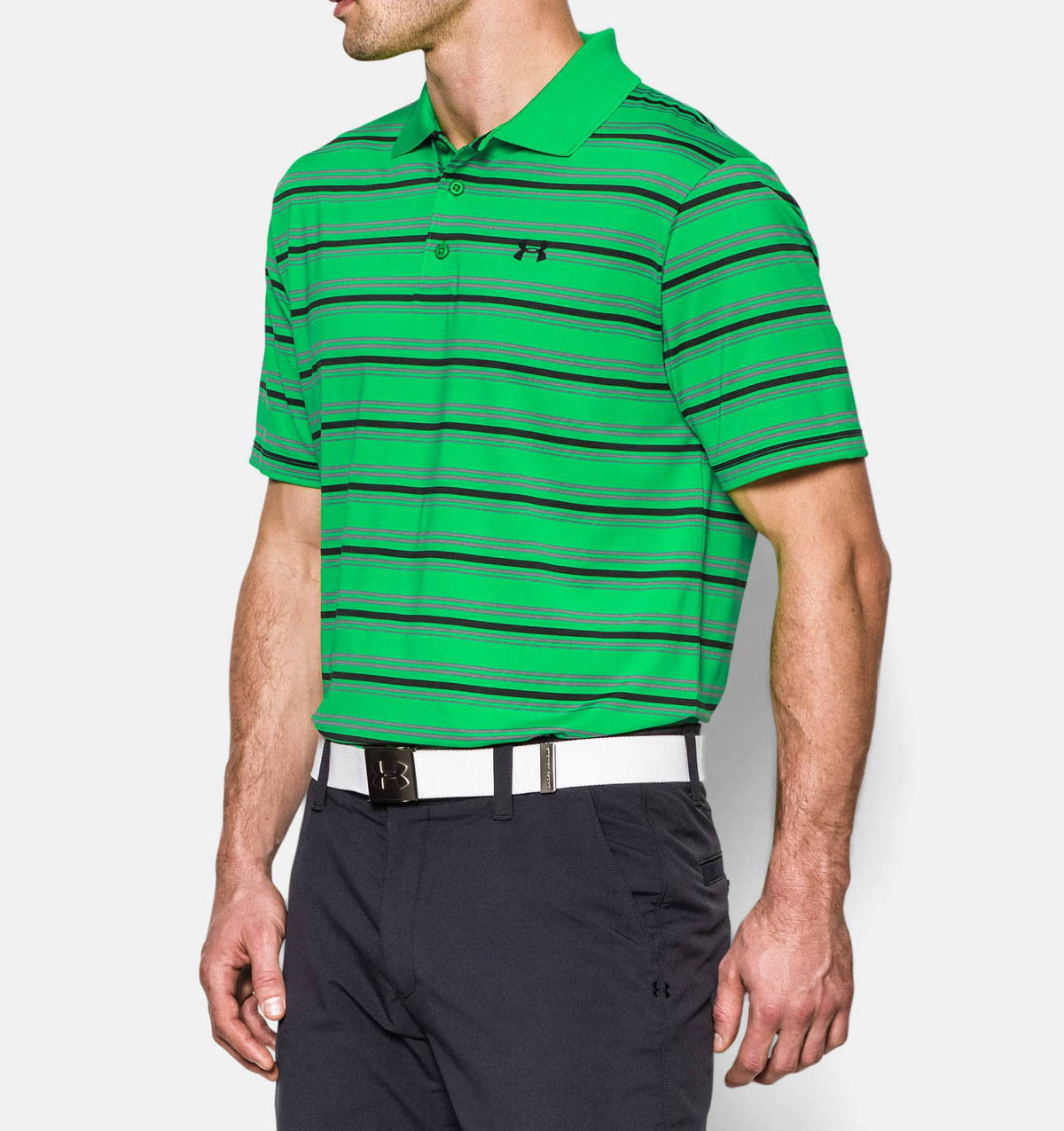 8d4abcf72 Under Armour Mens Heat Gear Golf Loose Fit Polo Shirts
