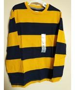 Old Navy Boys Shirt Yellow Mustard Stripes Long Sleeve Size M Medium 8 - $16.95