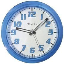 "Westclox 7.75"" Translucent Wall Clock (Blue)"