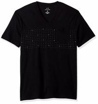 A|X Armani Exchange Men's AX Micro Print Short Sleeve V Neck Tee - $70.21