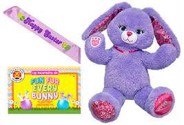 Build a Bear Purple Pawrincess 17 in. Plush Bunny Easter Sash Egg Colori... - $89.95
