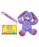 Build a Bear Purple Pawrincess 17 in. Plush Bunny Easter Sash Egg Colori... - $1.714,06 MXN