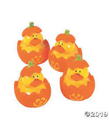 Jack-O'-Lantern Rubber Duckies - 12 pc - $8.36