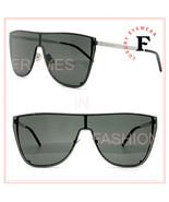 SAINT LAURENT MASK YSL SL1B 002 Silver Gray Unisex Shield Angular Sungla... - $326.70