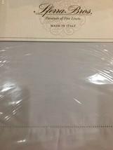 "Sferra ""Italian Percale 200 Thc"" 4pc Queen Sheet Set Hemstitch Pale Lilac Bnip - $188.09"