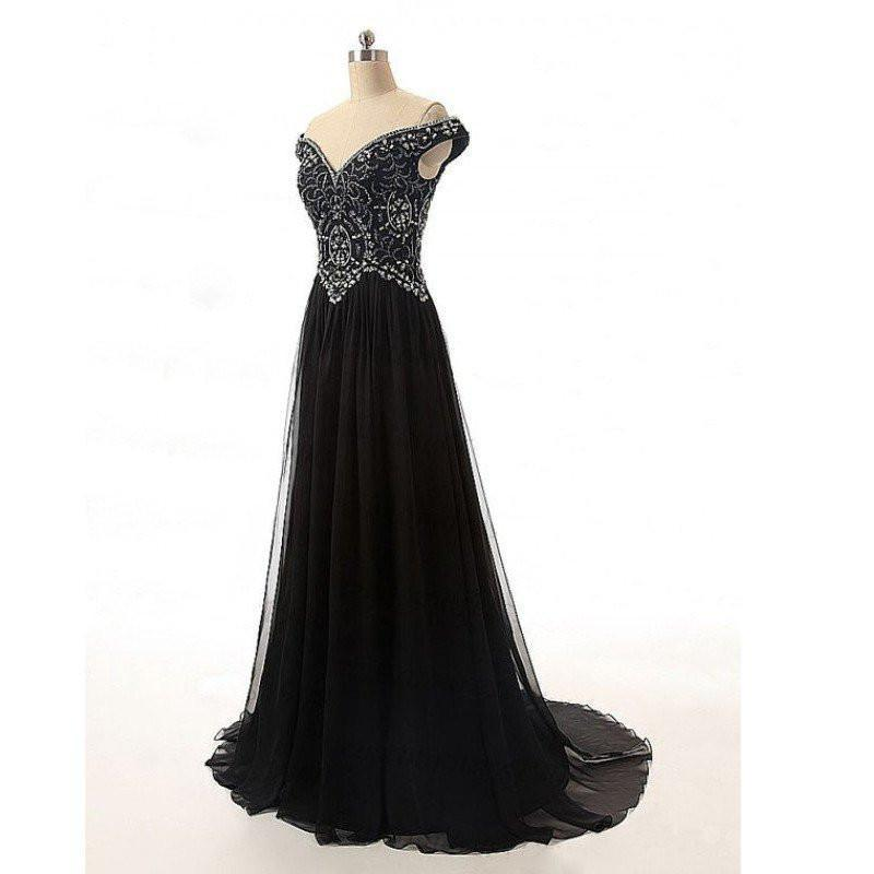 black prom dress,long prom Dress,cheap Prom Dresses,off shoulder prom dresses