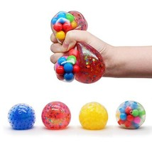 ToyCraz Squishy Stress Balls Toy, Squeezing Stress Relief Ball 4-Pack for Kids a