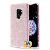 For SAMSUNG Galaxy S9 Plus Pink Full Glitter TUFF Hybrid Protector Case ... - $11.07