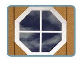 Best Barns Octagonal Gable Window - $44.46
