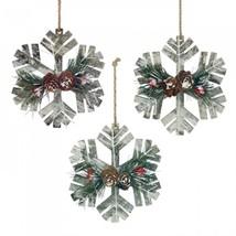 Rustic Snowflake Ornament Trio - $20.77