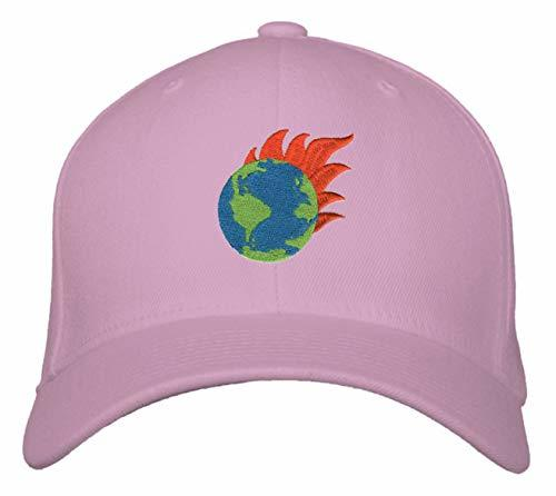 Earth On Fire Hat - Adjustable Womens Cap (Pink) Global Warming Climate Change W
