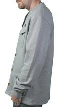 Ten 10.Deep Heather Grey Veterans Card Fleece Cardigan Sweater Jacket 2XL 3XL NW image 2