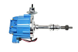 SBF Ford Small Block 260 289 302 HEI Ignition Blue Cap Distributor w/ 65K Coil image 9
