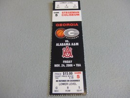 Alabama A&M Bulldogs vs Georgia Bulldogs (11-24-2006) Basketball Ticket ... - $3.12