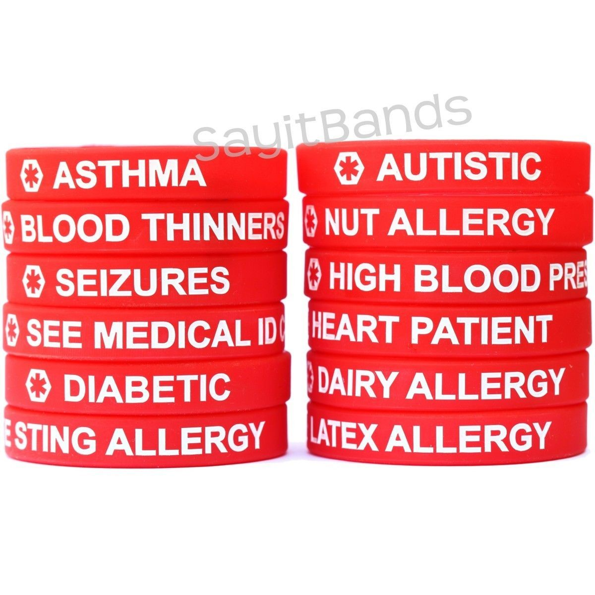 1 Red Medical Alert Wristband Bracelet And Similar Items