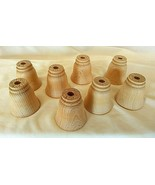 8 Wood Tulip Bells, Unfinished, bin#4 - $11.88