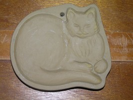 Brown Bag Lying Down Long-Haired Kitty Cat Art Cookie Mold – 1992 – 4 and 5/8th' - $9.49