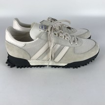 Adidas Marathon Tr Nubuck e Rete Scarpe Sportive Gesso Bianco Nero Uomo 9.5 - $103.83