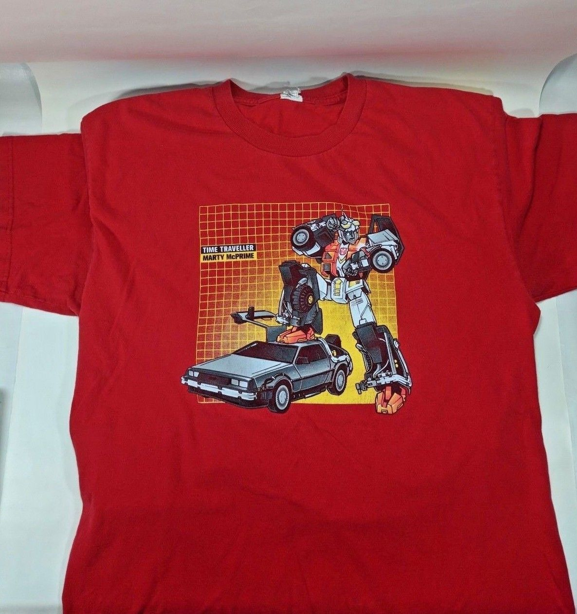 Transformers Time Traveller Marty McPrime t-shirt Pre-owned Size medium