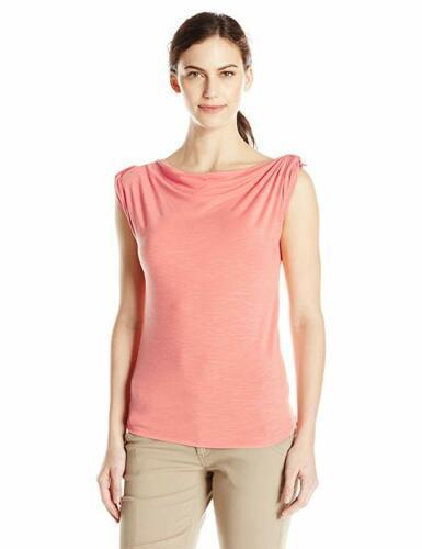 Large 12-14 Royal Robbins Women's Noe Short Sleeve Tee Shirt T-Shirt Mai Tai
