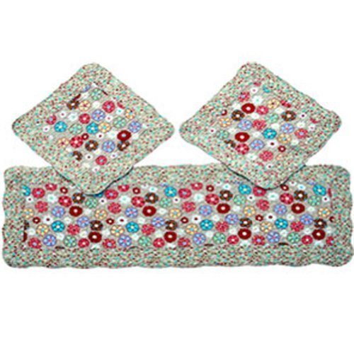 Set of 3 Lovely Cotton seat cushions/General Car Cushion,Dandelion