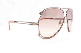 Chloe Women's Sunglasses CE121S 785 Rose Gold Peach Metal 140 MADE IN IT... - $199.95