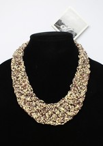 New Cream Brown Seed Bead Necklace by Anthropologie #N0055 - $13.85