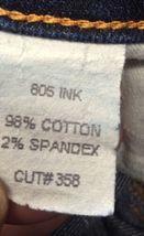 Anthropologie J BRAND Jeans Straight 805 Ink Dark Wash Low Rise Size 24 Women's image 9