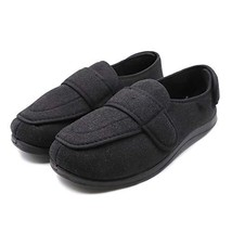 Mens Extra Wide Slippers with Adjustable Closures Diabetic & Edema Arthr... - $61.53