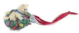 "Hallmark Keepsakes Ornament ""What's Your Name?"" Kitten and Bird on Wreath - $8.00"