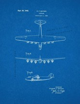 Airplane Patent Print - Blueprint - $7.95+