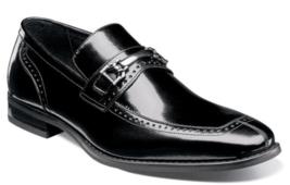 Stacy Adams Shoes Tanner Moc Toe Bit Slip On Black 25195-001 - €97,68 EUR