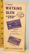 1975 1st Annual Watkins Glen 250 Modified Sportsman Auto Race Brochure - $19.31