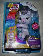 NEW Fingerlings  MACKENZIE Light Up UNICORN -  White Glitter Fingerling - $13.61