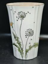 Toyo Japanese vase dandelions design on white w/gilt. Excellent conditio... - $20.00