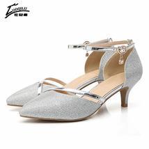 high Rhinestones silver gold Luxury and Woman heels qXxpIwOxEC
