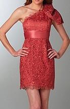 Jessica Simpson Dress Sz 6 Light Mahogany One Shoulder Floral Cocktail P... - £49.34 GBP