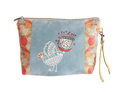 Cute And Sweet Bird Canvas Cosmetic Bags/Purse