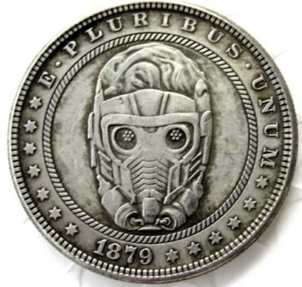 Primary image for New Hobo Nickel 1879 Starlord Morgan Dollar Guardians of the Galaxy Casted Coin