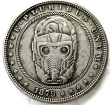 New Hobo Nickel 1879 Starlord Morgan Dollar Guardians of the Galaxy Cast... - $11.39