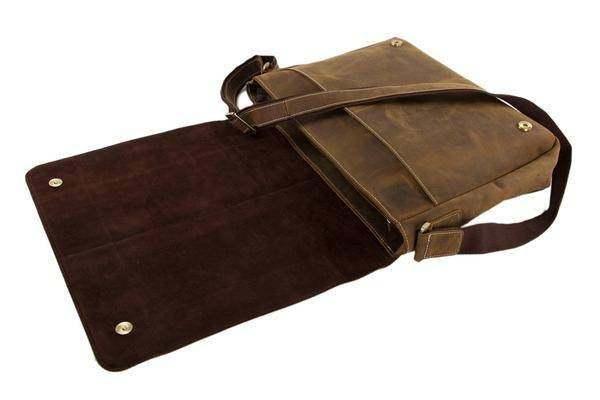 Sale, Handmade Vintage Leather Bag, Leather Messenger Bag, Men's Leather Shoulde image 5