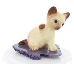 Hagen Renaker Miniature Siamese Kitten Paw Up on Base Stepping Stones #2747