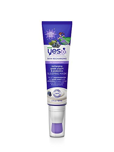 Primary image for Yes To Super Blueberries Recharging Yogurt & Probiotics Sleeping Mask, 2 Ounce