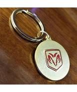 New Vintage Dodge Ram Gold Medallion Keychain - $21.95
