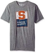 NWT NCAA Syracuse Orangemen Men's Small Steel Grey Triblend Tee Shirt - $17.81