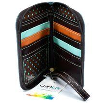 Chala Handbags Faux Leather Whimsical Siberian Husky Zip Around Wristlet Wallet image 3