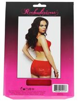 Rockalicious Women's Stretch Mini Sexy Lingerie Dress One Size Red #R105 image 4