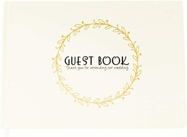 Guest Book Creme Bronze Wedding Themes Special Occasions and Events Circle - $19.84