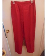 Woman's Red Stretch Kathie Lee Collection 8 Average Pants-Hidden Zipper - $13.36