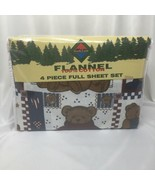North Crest Flannel Sheets Teddy Bear 4 pc Full Size Set - $48.37